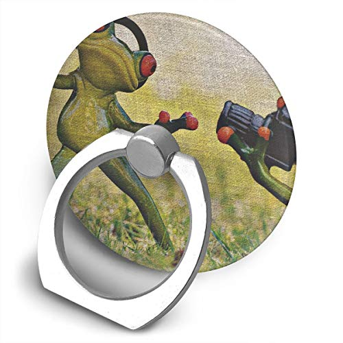 Round Finger Ring Stand Phone Holder Grip Frog Tissue Camera 360°Rotation Kickstand for Smartphones and IPad