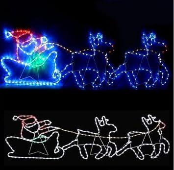 Santa reindeer sleigh rope light multi function colour christmas 312 santa reindeer sleigh rope light multi function colour christmas 312 led display aloadofball Images