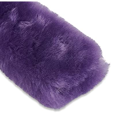 Andalus Authentic Sheepskin Seatbelt Cover, 2 Pack, Seat Belt Covers for Adults, Comfortable Driving, Genuine Natural Merino Wool (Purple): Automotive