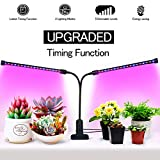Timing Function Dual Head Grow Light 36LED 5 Dimmable Levels Full Spectrum