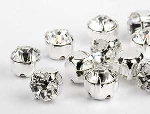 Chatons Montado a la puntada de Swarovski Elements SS29 (Crystal), 48 Piezas