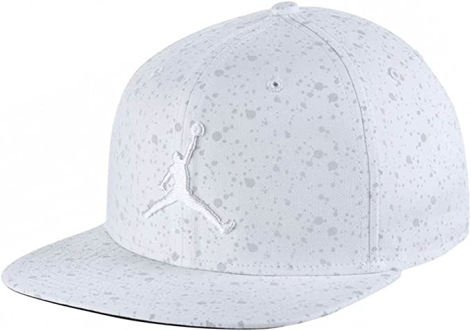 Nike Jordan Speckle Print Snapback Gorra De Tenis, Hombre, Blanco ...
