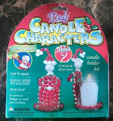 Beady Candle Characters Mrs Santa Claus Beaded Candle Holder Makes 2 (Candle Character)