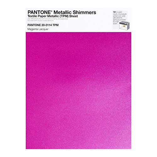 Pantone Metallic Shimmer TPM, 8.5x11 Inch Sheet, 20-0114 Magenta Lacquer