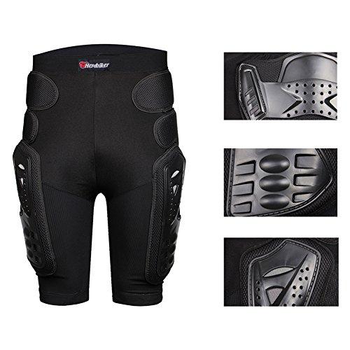 HEROBIKER Motorcycle Armor Pants Leg Ass Motocross Protection Riding Racing Equipment Gear Overland Motocross Protector (Black, ()