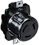 Hubbell HBL3771 Locking Receptacle, 50 amp, 250VDC/600VAC, 2 Pole, 3 Wire