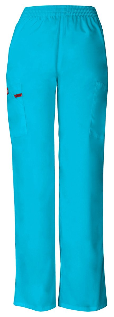 Dickies Women's Natural Rise Pull-On Pant_Turquoise_Large,86106