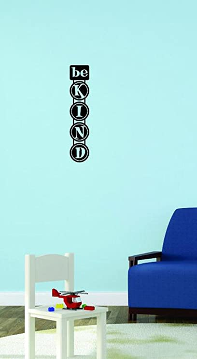 Design with Vinyl Moti 1946 2 Be Kind Daycare Preschool School Kids Playroom Boy Girl Peel /& Stick Wall Sticker Decal 8 x 32 Black