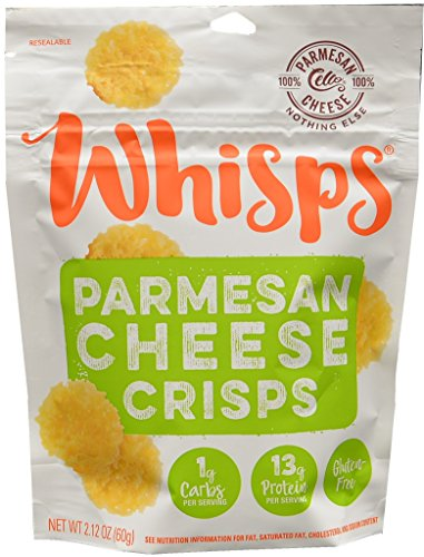 Cello Whisps Pure Parmesan Cheese Crisps, 2.12 Ounce (Parmesan Chips)