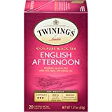 Twinings of London English Afternoon Black Tea Bags, 20 Count (Pack of 6)