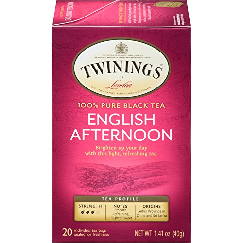 Twinings of London English Afternoon Black Tea Bags, 20 Count (Pack of 6) ()