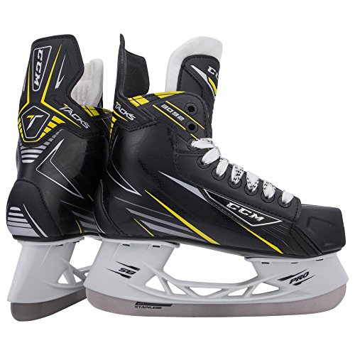 CCM New Tacks 3092 SK3092 Junior Ice Hockey Skates Size 4.5 Black/Yellow by CCM