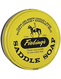 Fiebings Saddle Soap Leather Conditioner Fiebing's Tin Yellow Saddle Soap Cleaner 3.5oz