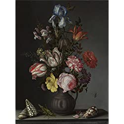 Oil Painting 'Balthasar Van Der Ast - Flowers In A Vase With Shells And Insects,about 1630' 8 x 11 inch / 20 x 27 cm , on High Definition HD canvas prints, gifts for Foyer, Garage And Kids Roo decor