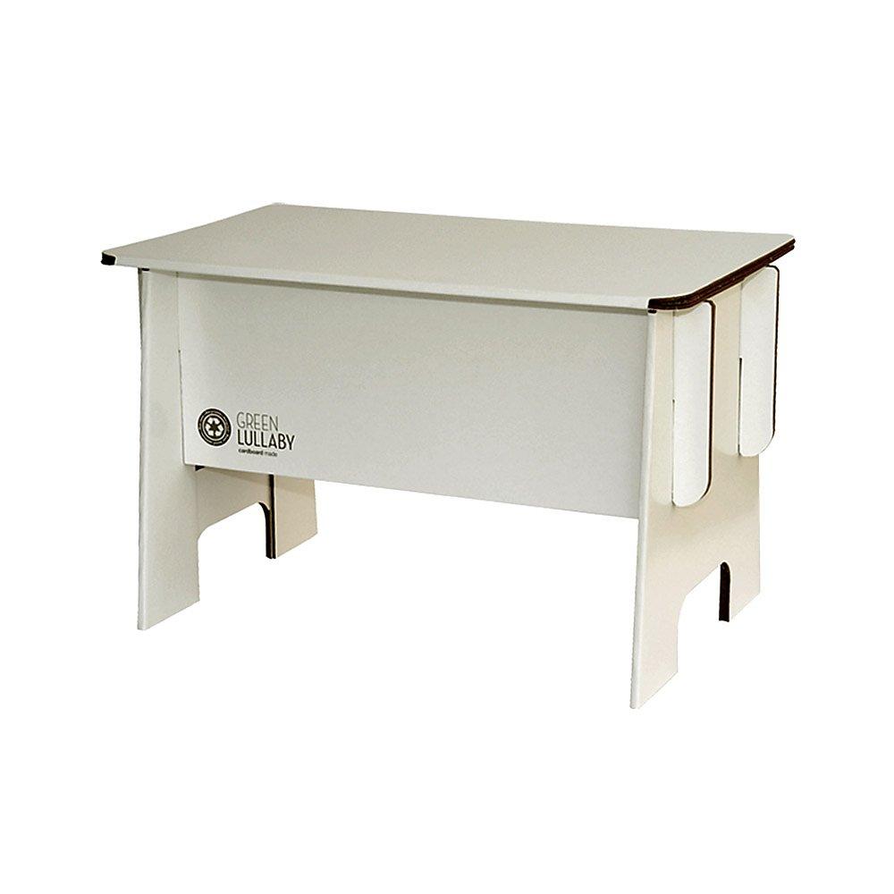Green Lullabye Bureau en Carton Recycl/é et Recyclable Blanc
