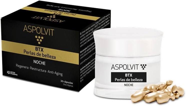 ASPOLVIT – BTX Cápsulas de noche antiedad. Fórmula innovadora con Antarcticine. Reduce las arrugas y estimula la formación de colágeno – 30 cápsulas: Amazon.es: Belleza