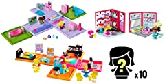 The My Mini MixieQ's world is just like ours… except it's totally cube-ular! Get ready for the ultimate small figure fun in kids' favorite settings! With 2 themed rooms, 2 exciting playsets, 18 figures (8 visible and 10 mystery figures), this...