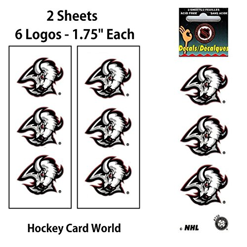 """Buffalo Sabres 1.75"""" Logo Stickers Decal (Pack of 2 Sheets) by Hockey Card World Inc."""