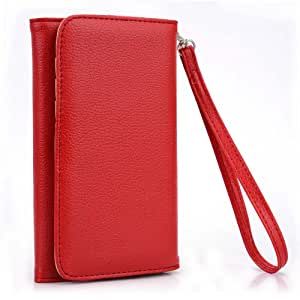 Kroo Red Clutch Wristlet Wallet for Apple iPhone 6 4.7 Inch (CDMA) (GSM)