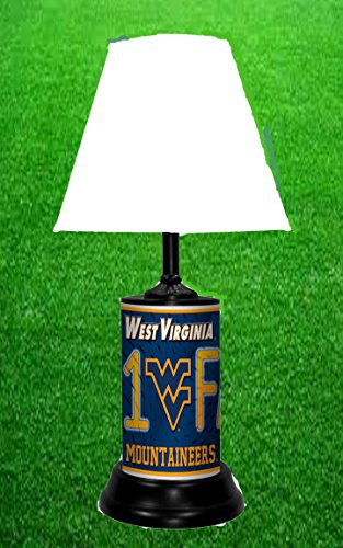 WEST VIRGINIA MOUNTAINEERS NCAA LAMP - BY TAGZ SPORTS - FREE SHIPPING (Virginia West Light)