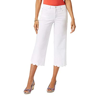 Charter Club Tummy-Control Wide-Leg Jeans (White Wash, 14) at Women's Jeans store