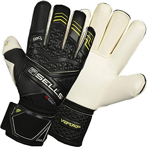 (Sells WRAP Elite Climate D3O Junior Goalkeeper Gloves Size 7 (Black))