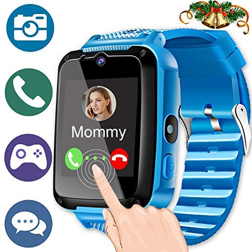 atch Phone for 3-12 Ages Girls Boys Toddlers with 1.44'' HD Touch Screen 2 Way Call Camera SOS Clock Game Flashlight Wristband Cellphone Watch Electronic Learning Toys (2blue) ()
