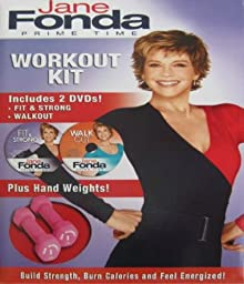 Jane Fonda Prime Time Workout DVD Hand Weights Kit