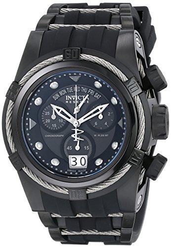 Invicta Men's 12298 Bolt Reserve Chronograph Black Dial Black Polyurethane Watch