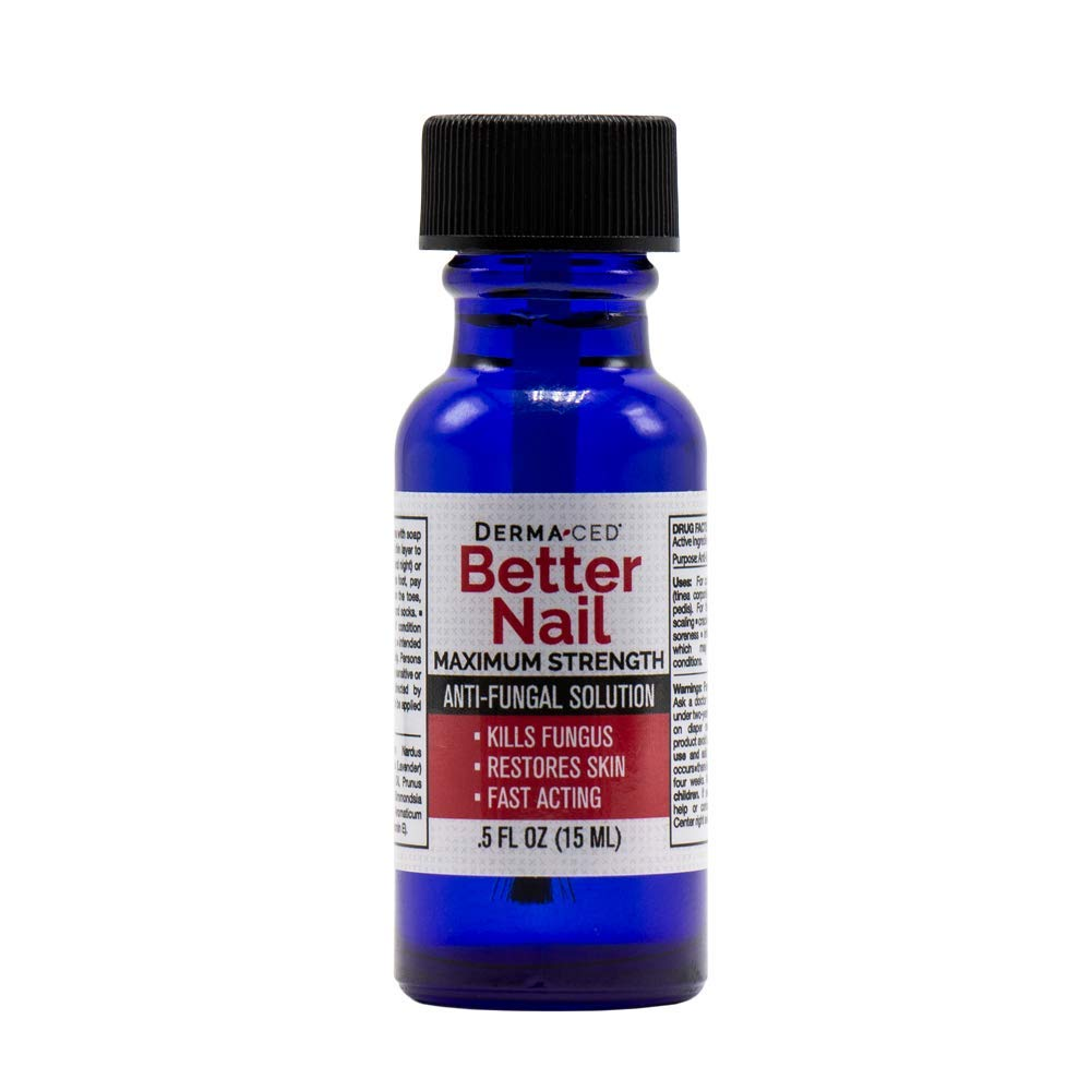 Better Nail - Maximum Strength 25% Solution for Anti Fungal Nail Support | Nail Restoring Solution for Toenail & Fingernail Fungus | .5oz or 15ml : Beauty