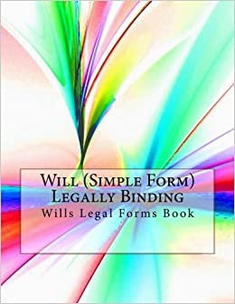 Will Simple Form Legally Binding Wills Legal Forms Book Julien - Simple legal forms