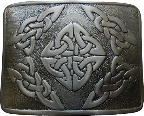 Scottish Kilt belt buckle #3 Antiqued Black Finish (Antiqued Black)