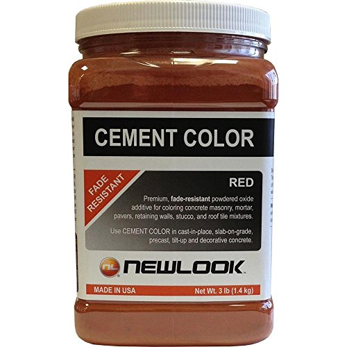 Red Cement - NewLook 3 lb. Red Fade Resistant Cement Color