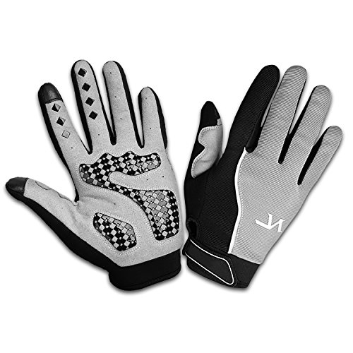 Outdoor Sports Bicycle Gloves, Full Finger Motorcycle Motorbike Riding Mesh Glove Warm Protection Windproof Racing Fashion Anti-slip Breathable Summer Winter