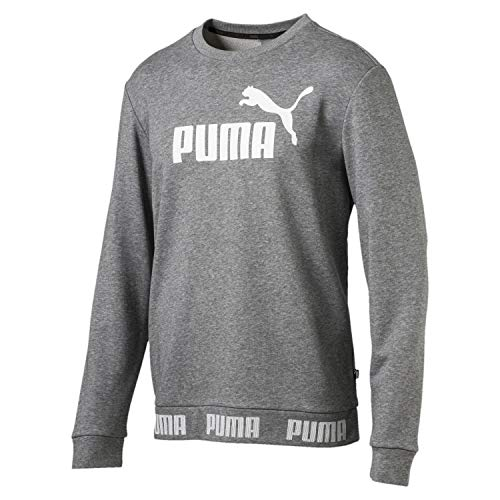Tr Amplified Gris Moyen Chiné shirt Sweat Puma Crew Homme pxEfwdnBq