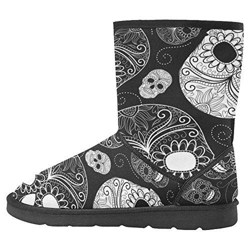 InterestPrint Womens Snow Boots Unique Designed Comfort Winter Boots Multi 24