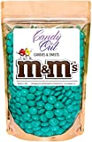 Teal m&m 1 Pound Milk Chocolate in CandyOut Sealed Stand Up Bag