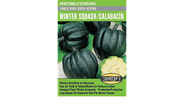 Amazon.com : Table King Bush Acorn Winter Squash/Calabacín - Spanish/English : Garden & Outdoor