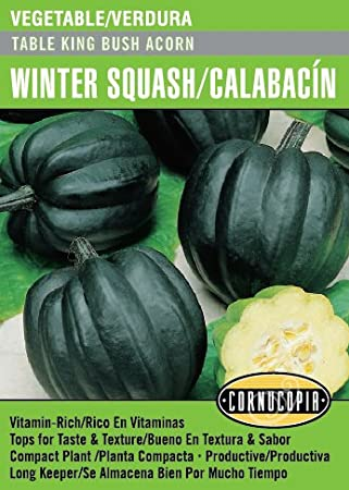 Amazon.com : Table King Bush Acorn Winter Squash/Calabacín ...