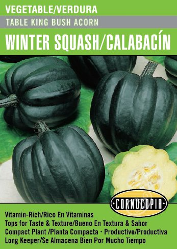 Table King Bush Acorn Winter Squash/Calabacín - Spanish/English