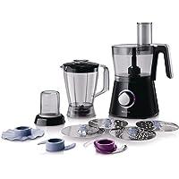 Philips HR7762/90 Robot Viva collection Bol + Blender + Hachoir + Disque à Frites Moteur 750watts Noir