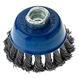 Mercer 189090B Knot Cup Brush 2-3/4'' x 5/8''-11 or M14 x 2.0 for Angle Grinders