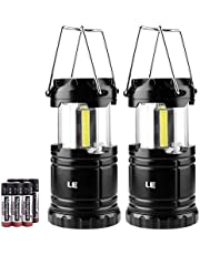 LE Portable Camping Lights, 350 Lumen COB LED Lantern, Battery Operated