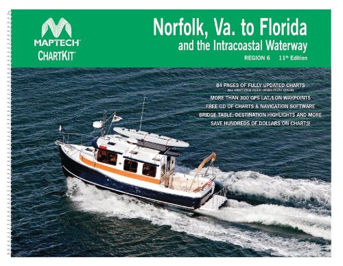 Maptech ChartKit® Book w/ Companion CD - Norfolk VA to Florida and the Intracoastal (Maptech Paper Chartkit Book)