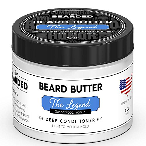 - Live Bearded Sandalwood Beard Butter With Hint Of Vanilla, The Legend All Natural Beard Butter
