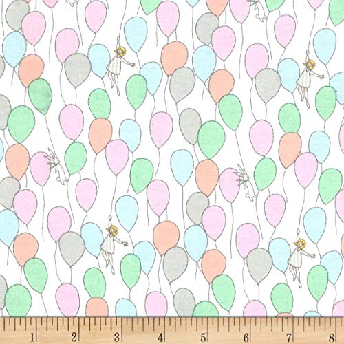 Michael Miller Best of Sarah Jane Flannel Balloons Fabric, Soft, Fabric By The Yard