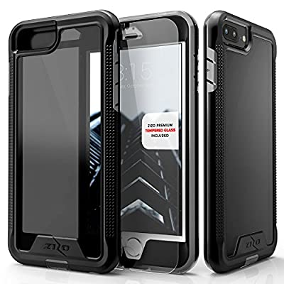 iPhone 7 Plus Case, Zizo [ION Series] w/ [iPhone 7 Plus Screen Protector] Crystal Clear [Military Grade] for iPhone 7 Plus and iPhone 6 / 6s Plus