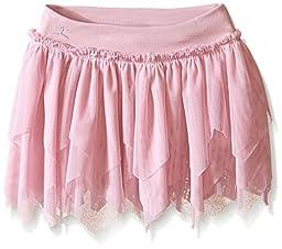 Danskin Little Girls\' Warm-Ups Sheer Ruffled Dance Skirt, Lavender, Toddler