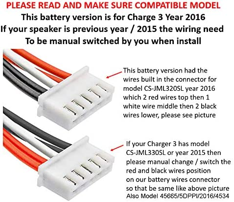 Tool for JBL Charge 3 2016 Portable Speaker 6000mAh Li-Polymer JBL GSP1029102A Repair Power High Capacity Replacement Battery