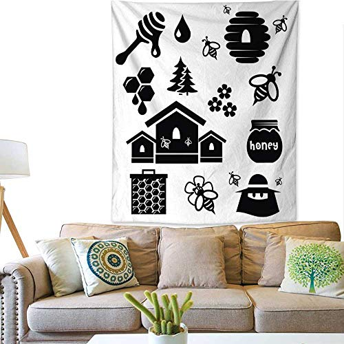 Simple Tapestry Honey icon Set Vector Illustration 60W x 80L INCH